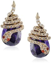 "Betsey Johnson Betsey Blues"" Pave Snake Wrap CZ Drop Earring"