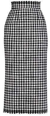 Dolce & Gabbana Women's Stretch-Wool Houndstooth Skirt