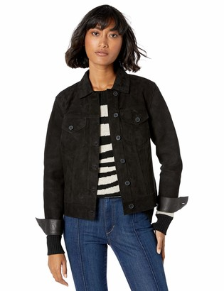 Lucky Brand Women's Reversible Suede Trucker Jacket