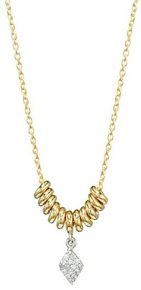 Meira T 14K Yellow Gold & Pave Diamond Marquise Disc Necklace
