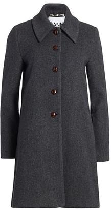 Ganni Wool-Blend Coat