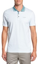 Ted Baker Men's Farway Tee Print Modern Slim Fit Golf Polo