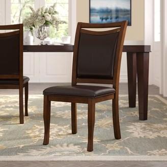 Hokku Designs Neymar Upholstered Side Chair in Dark Brown