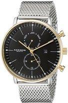 Akribos XXIV Men's AK685SSG Silver-Tone Stainless Steel Watch