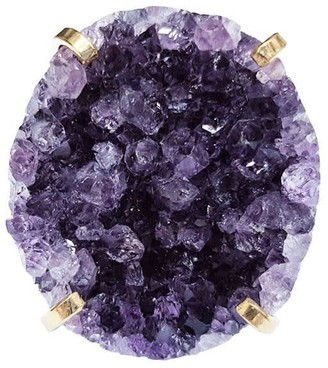 Tiana Jewel Statement Amethyst Gemstone Cluster Cuff Ring