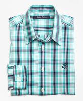Brooks Brothers Non-Iron Multi Check Tattersall Sport Shirt