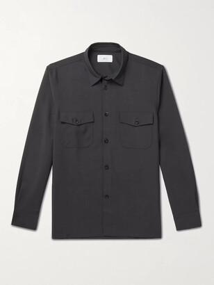 Mr P. Virgin Wool And Mohair-Blend Flannel Overshirt