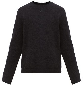 Craig Green Embroidered-circle Wool-blend Boucle Sweater - Mens - Black