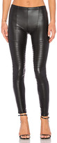 Plush Full Liquid Moto Legging in Black. - size L (also in M,S,XS)
