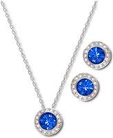 Swarovski Jewelry Set, Angelic Sapphire Earrings and Pendant Set