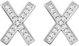 Thomas Sabo X sterling silver and zirconia earrings large