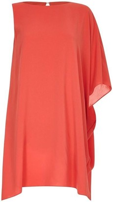 Adrianna Papell Gauzy Crepe One Shoulder Dress