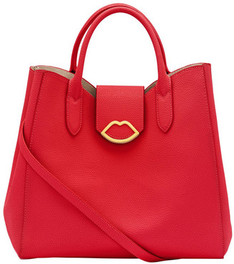 Lulu Guinness Classic Red Cut Out Lip Luella
