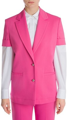 Sara Battaglia Short-Sleeve Tailored Jacket