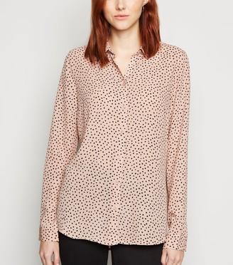 New Look Tall Spot Long Sleeve Shirt