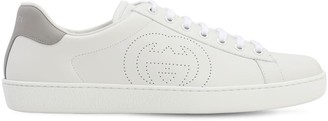 Gucci New Ace Gg Interlock Leather Sneakers