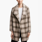 James Perse Plaid Cocoon Coat