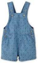 Petit Bateau Baby boy short overalls in printed denim