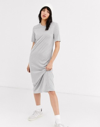 Weekday Beyond t-shirt dress-Grey