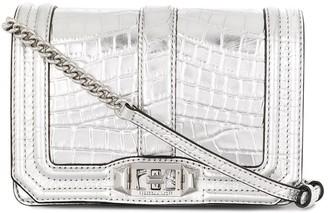Rebecca Minkoff Crocodile Effect Crossbody Bag