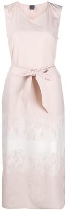 Lorena Antoniazzi Tie-Dye Print Belted Dress