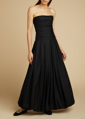 KHAITE The Ingrid Dress in Black