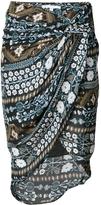 Veronica Beard Twist Front Deco Floral Skirt