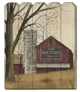 "Trendy Décor 4U Mail Pouch Barn by Billy Jacobs, Printed Wall Art on a Wood Picket Fence, 16"" x 20"""