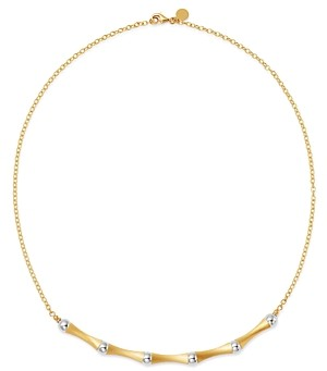 Bloomingdale's Bamboo Collar Necklace in 14K Yellow & White Gold, 18 - 100% Exclusive