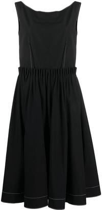Marni exposed-dart A-line midi dress