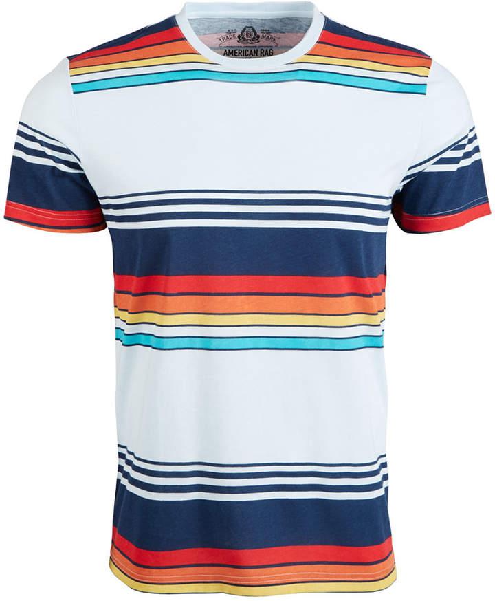American Rag Men Retro Variegated Striped T-Shirt