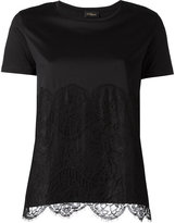 Les Copains lace panel T-shirt - women - Cotton - 40