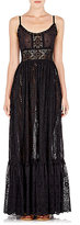 Valentino WOMEN'S MIXED-EYELET GOWN
