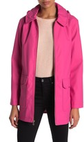 Kate Spade hooded zip front rain coat