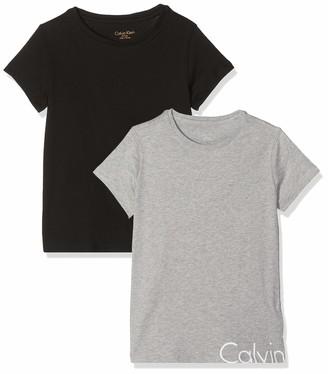 Calvin Klein Girl's 2pk Ss Tees T-Shirt