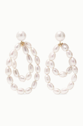 NATASHA SCHWEITZER Coco 9-karat Gold Pearl Earrings