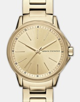 Armani Exchange Lady Banks Gold Tone Analogue Watch