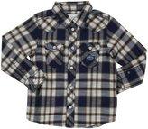 Diesel 'Corenob' Plaid Shirt (Toddler) - Blue-36 Months