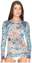 Maaji Poolside Floral Rashguard Cover-Up Women's Swimwear