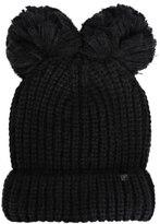Karl Lagerfeld Women's Pom Pom Beanie Black