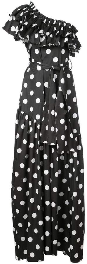 Caroline Constas Rhea polka dot dress