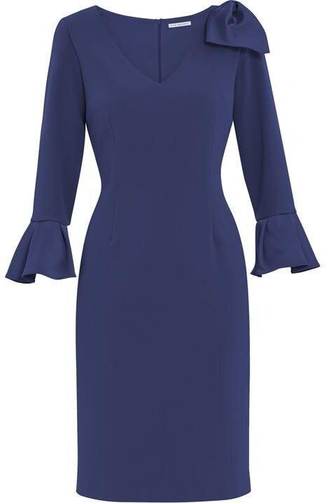 Thumbnail for your product : Gina Bacconi Caliana Crepe And Satin Bow Dress