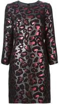 Marc by Marc Jacobs leopard lurex brocade dress - women - Cotton/Polyamide/Polyester/Metallic Fibre - 4