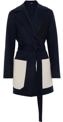 Joseph Marcus Color-block Wool And Cashmere-blend Felt Coat