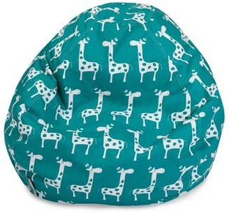 Majestic Home Goods Giraffe Large Classic Bean Bag Chair, Multiple Colors