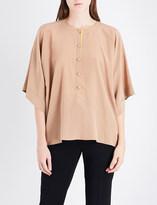 Givenchy Boxy silk-crepe shirt
