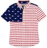 Vineyard Vines Boys' Usa Whale Flag Shirt