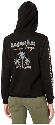 Roxy Glamorous Palms Crop Hoodie (True Black) Women's Clothing
