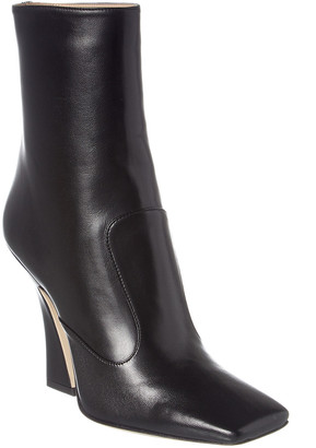 Fendi Square Toe Leather Boot