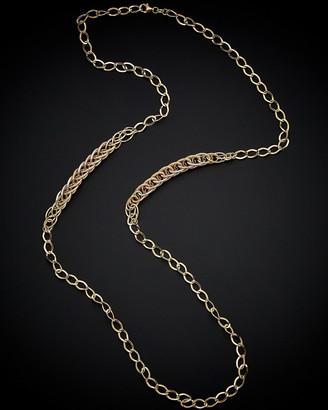 Italian Gold 14K Tri-Tone Link Necklace